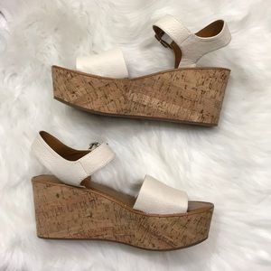 Franco Sarto Julius Cork Wedge Sandals 8